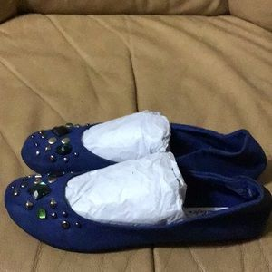 American Eagle Outfitters Shoes - Multi gems and studs Flat Shoes